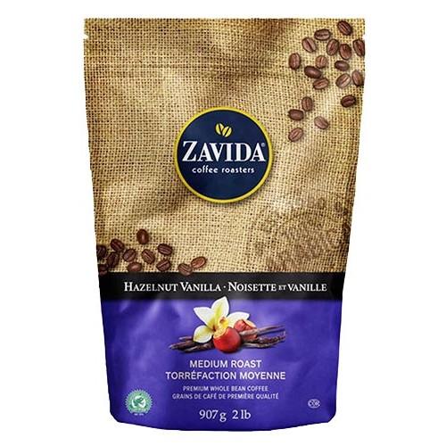 Cafea Zavida aroma alune de padure si vanilie (Hazelnut Vanilla Coffee 907gr)