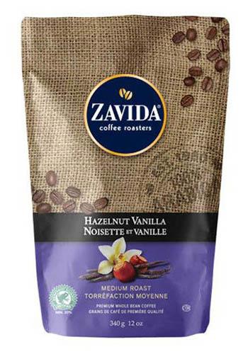 Cafea Zavida aroma alune de padure si vanilie (Hazelnut Vanilla Coffee 340gr)